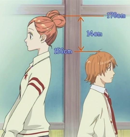 O Grande Problema Do Casal E A Diferenca De Altura Dos Dois Uma Otima Jogada No Anime Pois Ate Hoje Torna Distinto Outros Shoujos