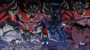 Aí sim Erza, mostra que não se pode menosprezar a Fairy Tail.