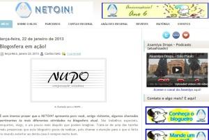 O Destaque da Semana é o NETOIN! com seus texto sobre o projeto NUPO.