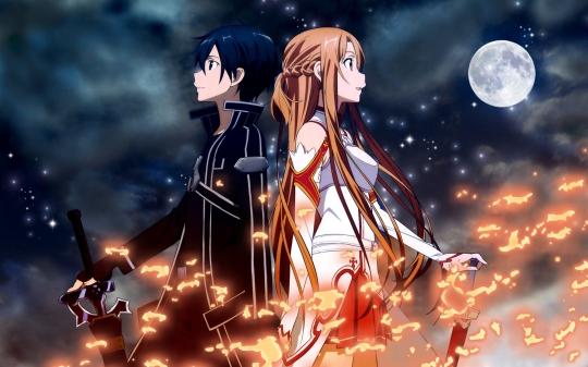 O relacionamento com Asuna é o maior motivador do amadurecimento de Kirito. Que o casal seja feliz!