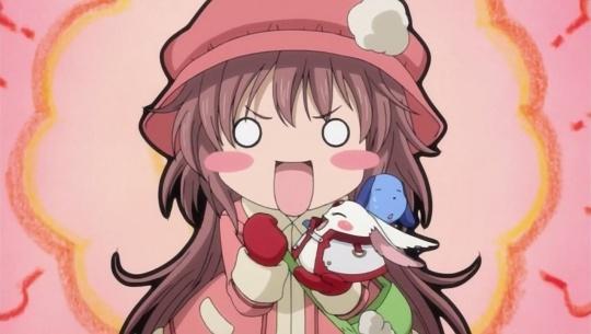 Kobato ansiosa por aparecer no Anime Portfolio.