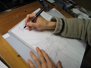 Se acharem uma foto boa do rosto dele por favor me enviem, por fiquem com as mãos e com um desenho de Shimoku Kio