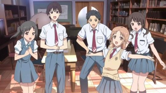 Um belo anime sobre música e amizade.