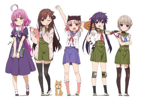 Gakkou-Gurashi-anime-personajes